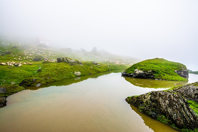 Lake, Water, Landscape, Mountain, Sky, Nature, Sea