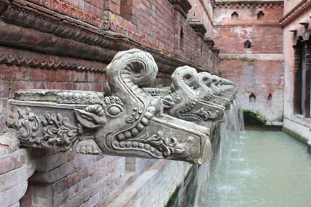 Nepal, Kathmandu, Architecture, Water, Fountain