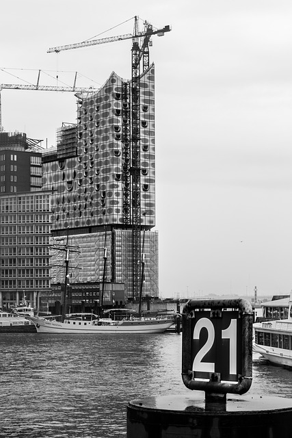 Hamburg, Water, Port, Hamburg Symphony, Number, River