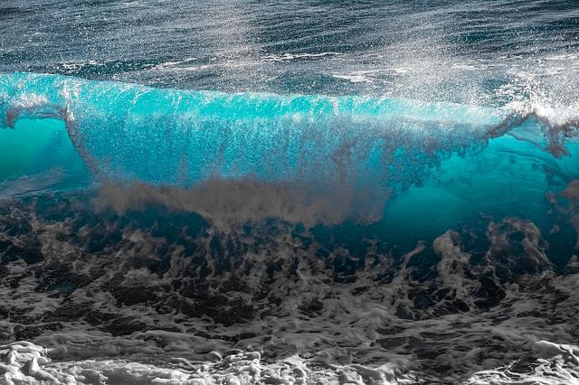 Water, Sea, Ocean, Nature, Wave, Surf, Spray, Curve