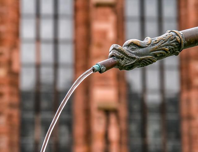 Water Dispenser, Metal, Copper, Water Pipe, Water