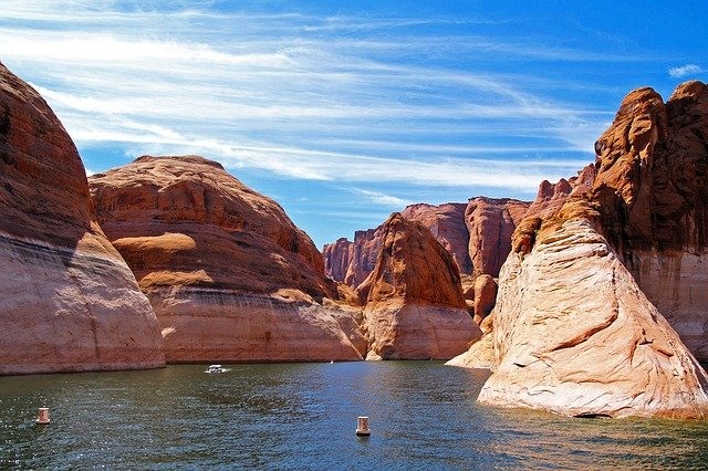 Lake Powell, Page, Arizona, Water, Reservoir, Landscape