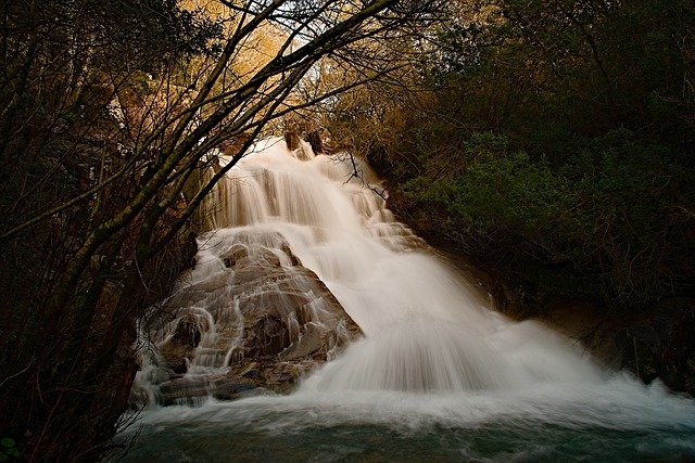 River, Water, Forest, Silk Effect, Waterfall