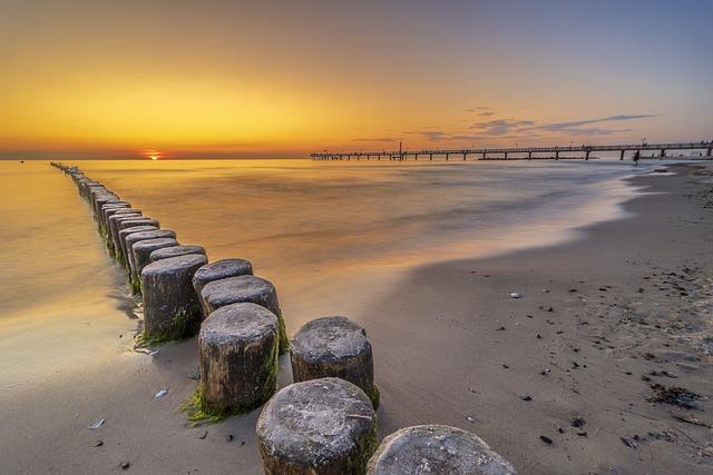 Sea Bridge, Baltic Sea, Beach, Sea, Web, Water
