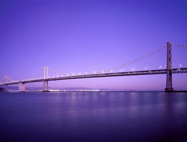 Bridge, Sea, Water, Sky, Suspension Bridge, Nature