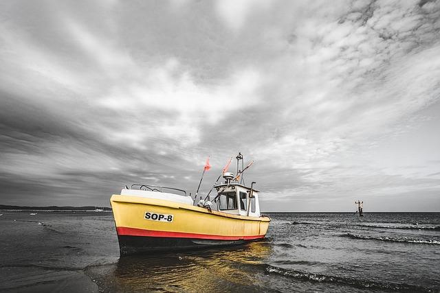 Boat, Shore, Fish Boat, Sea, Water, Ocean, Vessel