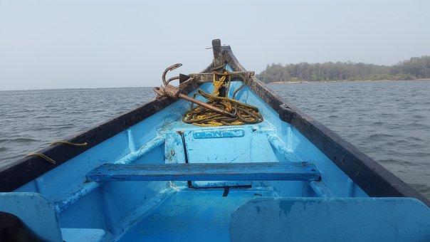 Boat, Sea, Blue, Water, Transportation, Transport