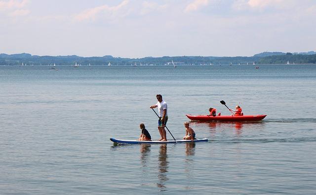 Paddle Surfing, Water Sports, Lake, Water, Sport