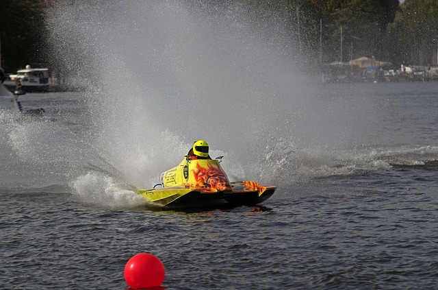 Motor Racing Boat, Racing Boat, Water Sports, Racing
