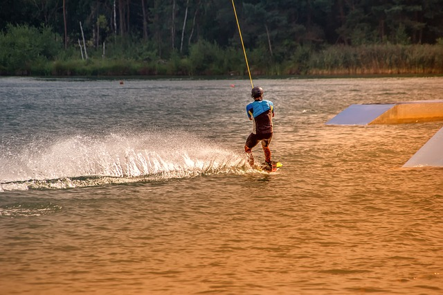 Wakeboarding, Sport, Activity, Water Sports, Lake