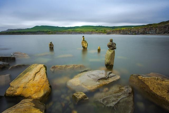 Stones, Water, Sea, Bay, Dorset