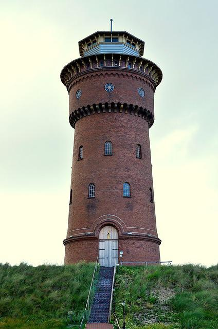 Water Tower, Borkum, Water Supply, Water Storage