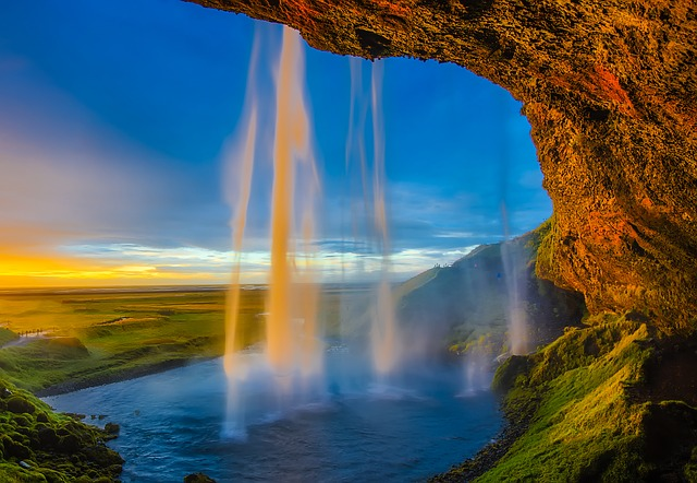 Iceland, Waterfall, Falls, Cascade, Pool, Stream, Water