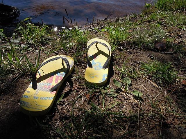 Flip-flops, Summer, Water, Finnish, Lake, Beach