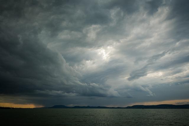 Lake Balaton, Lake, Water, Landscape, Summer, Clouds