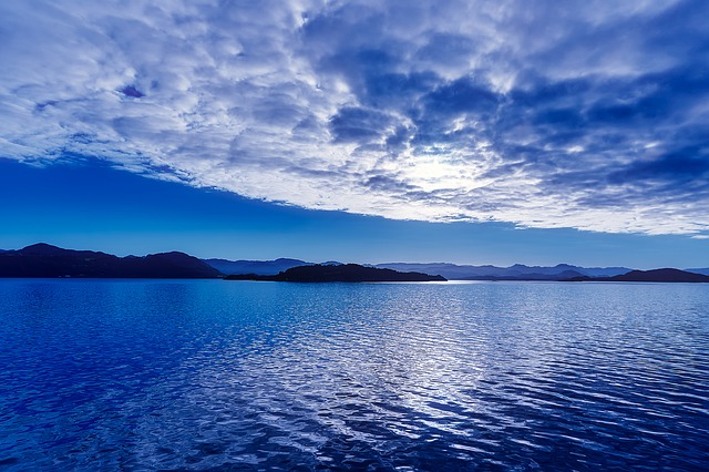 Norway, Sunset, Dusk, Sky, Clouds, Lake, Fjord, Water