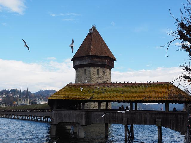 Chapel Bridge, Water Tower, Lucerne
