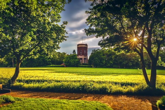 Water Tower, Sunset, Colourful, Sky, Tower, Water