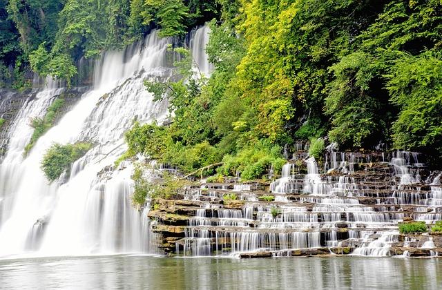 Waterfall, Twins Fall, Water, Landscape, Nature, Travel