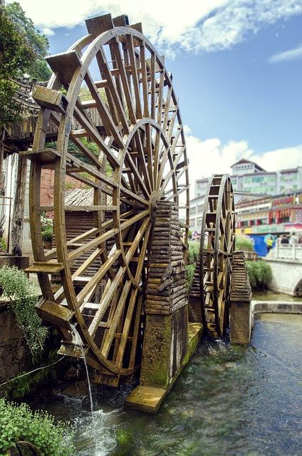 Water Wagons, Lijiang, Old Town