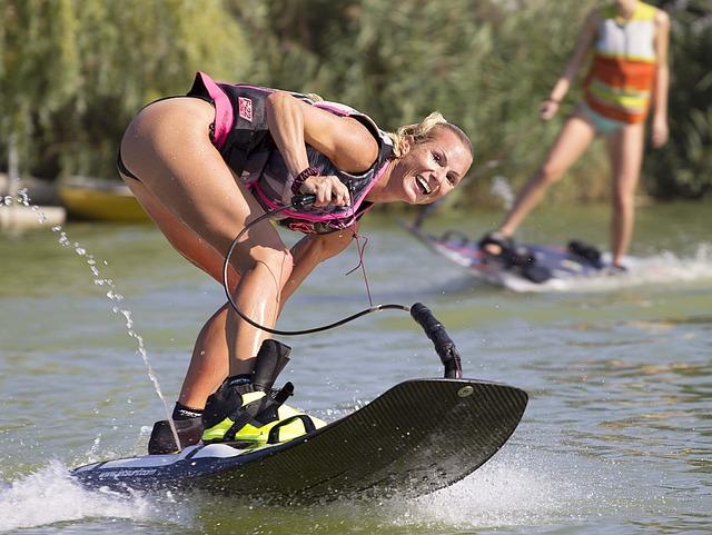 Water Skiing, Wakeboarding, Water, Summer, Sport