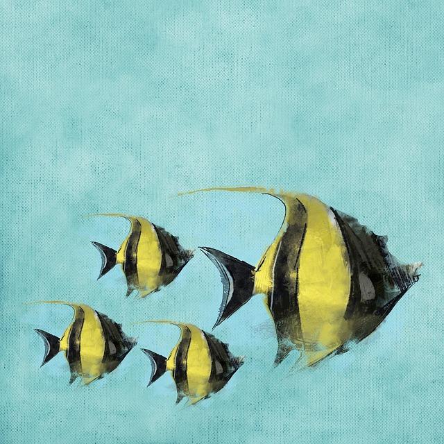 Fisherman, Water, Swim, Background, Watercolor