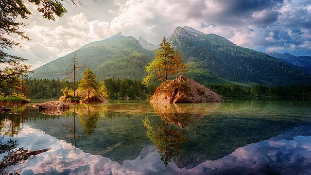 Waters, Nature, Mountain, Lake, Landscape, Water