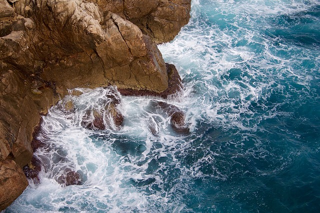 Coast, Ocean, Rocks, Sea, Water, Waves