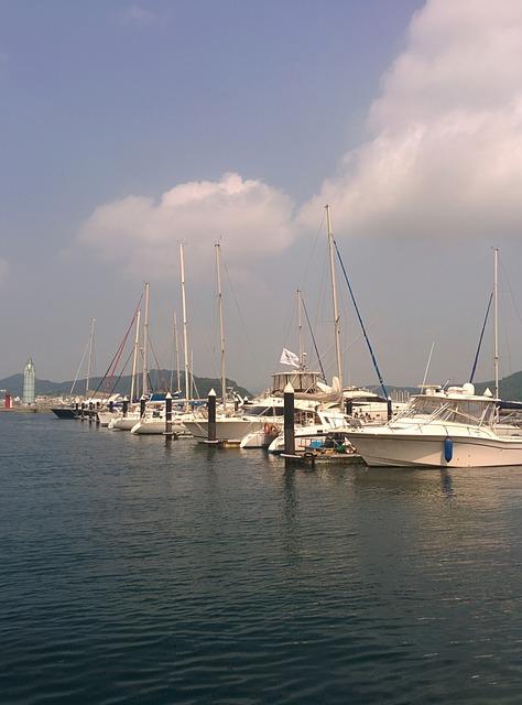 Tongyeong, Marina Resort, Yacht, Boat, Marina, Water