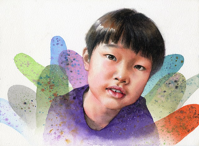 Watercolor Portrait, Children's, Works, Art, Watercolor