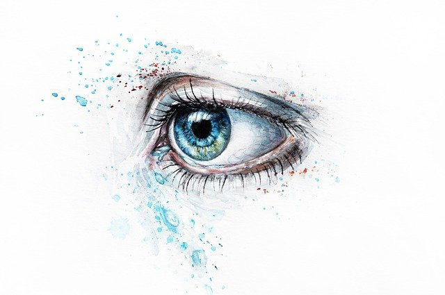 Blue, Watercolor, Watercolour, Painting, Artistic, Eye
