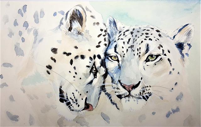 Leopard, Cat, Beast, Watercolor, Art, Painting, Paper