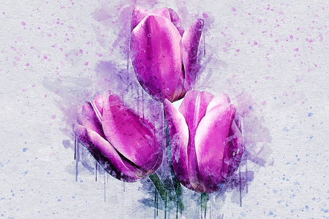 Flowers, Tulip, Nature, Art, Abstract, Watercolor