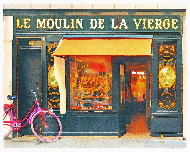 Watercolor Paris Shops, Boutiques, Paris, Boutique
