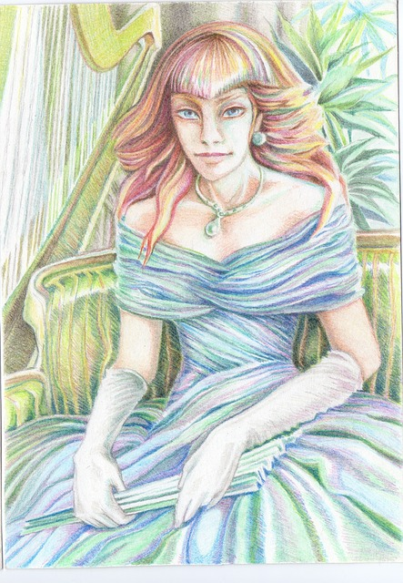 Graphics, Watercolor, Watercolor Pencils, Girl, Woman