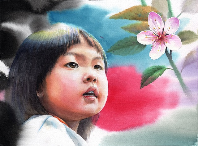 Watercolor Portrait, Portraits, Kids Illustration