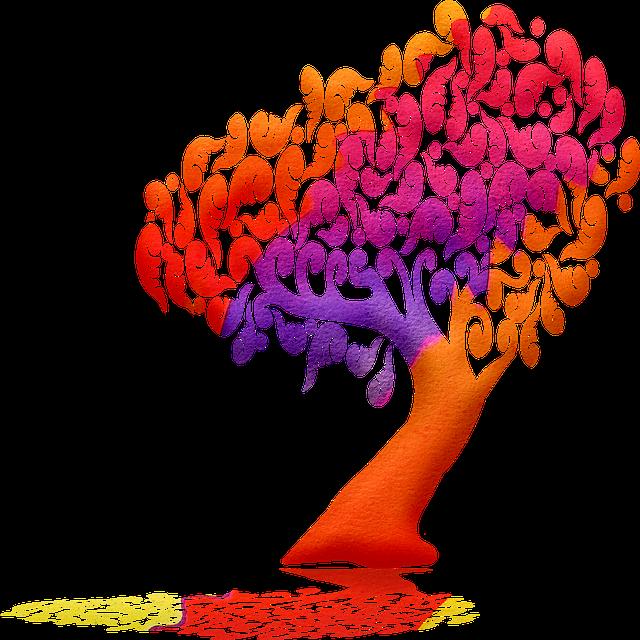 Tree Silhouette, Gnarled Tree, Tree, Watercolor Tree
