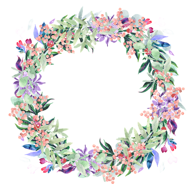 Wreath, Watercolor, Floral, Berries, Spring, Flowers