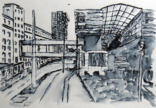 City View, Watercolour, Painting