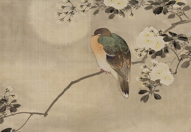 Vintage, Japanese, Watercolour, Watercolor, Painting