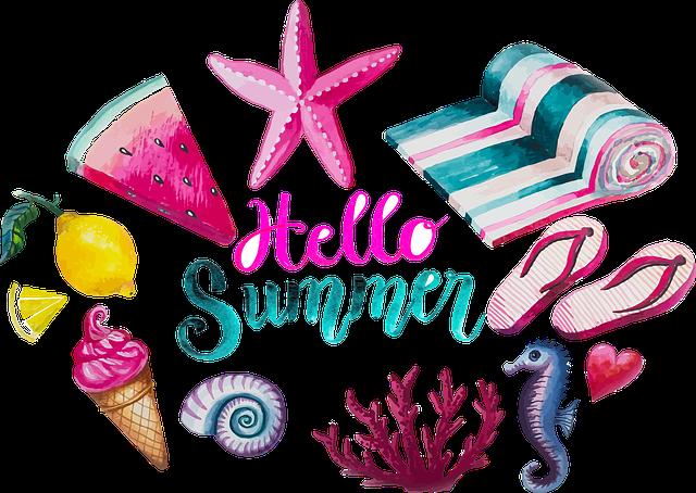 Watercolour, Summer, Swimsuit, Ice, Sea Animals, Serene