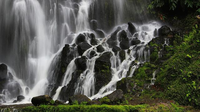 Azores, Waterfall, Mountain, Portugal, Travel, Autumn