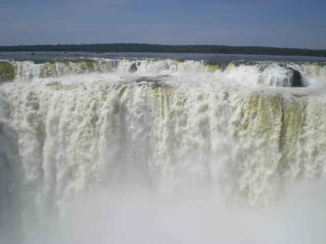 Waterfall, Brazil, Wild, Force Of Nature, Impressive
