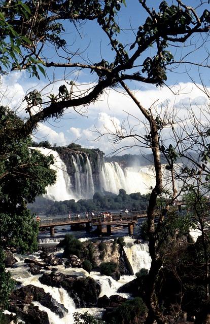 Wassrfaelle, Brazil, National Park Iguazú, Waterfall