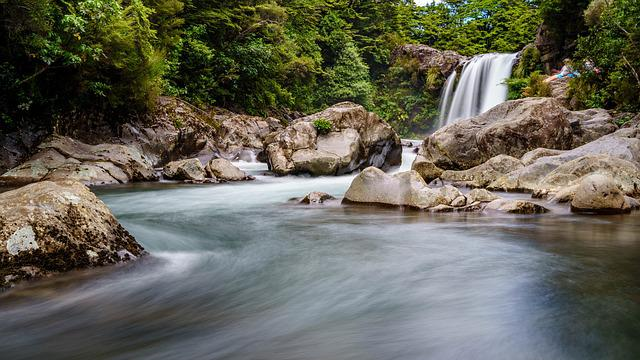 Waters, Nature, River, Rock, Waterfall