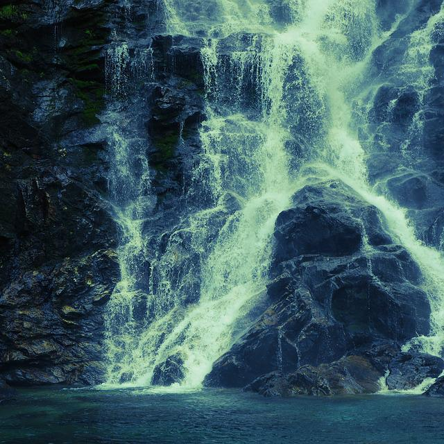 Waterfall, Ticino, Cold, Blue, Rock, Rocky, Iced Water