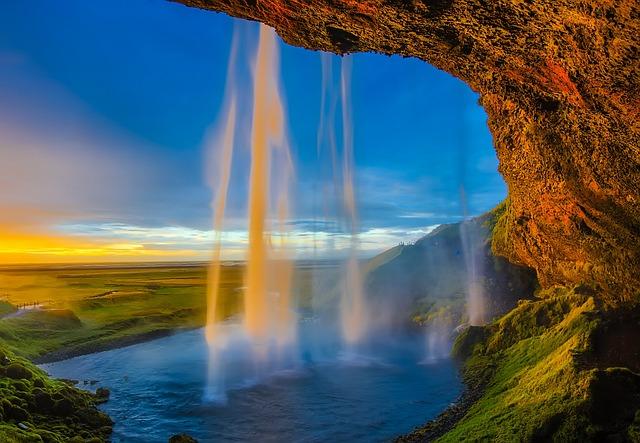 Iceland, Skogafoss, Waterfall, Falls, Cascade, Pool