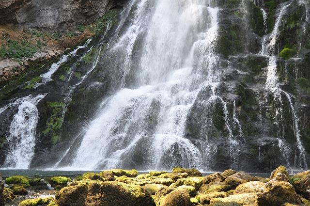 Waterfall, Closeup Waterfall, Water, Nature