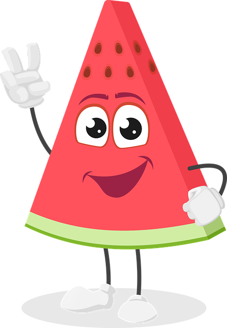 Watermelon, Fruit, Cartoon, Character, Summer, Cool