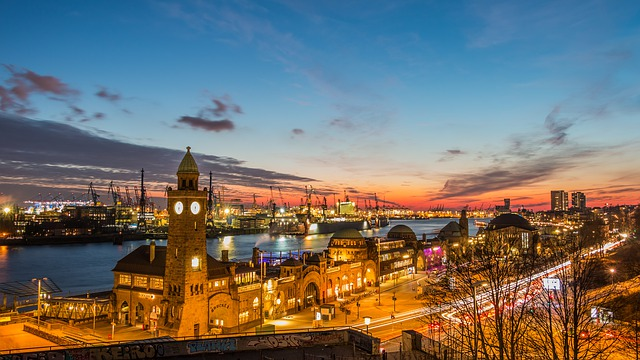 Travel, City, Architecture, Panorama, Waters, Hamburg